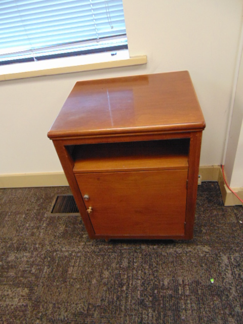 Lot 638 - LOT CONSISTING OF: conference table, (11) chairs, credenza & cabinet