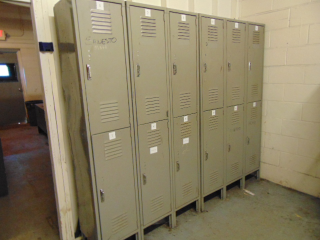 Lot 497A - LOT OF (3) ASSORTED DESKS, CREDENZA, (3) ASSORTED CABINETS, TV, REFRIGERATOR, MICROWAVE, OVEN,