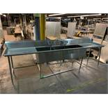 3 Basin stainless steel sink