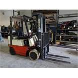 Nissan 3400 lb. Model CPJ02A20PV LP Forklift Truck, S/N 0PJ02-9P0007, 3-Stage Mast, Side Shift, 42