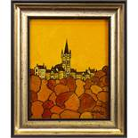 GLASGOW UNIVERSITY IN NOVEMBER, AN OIL BY IAIN CARBY