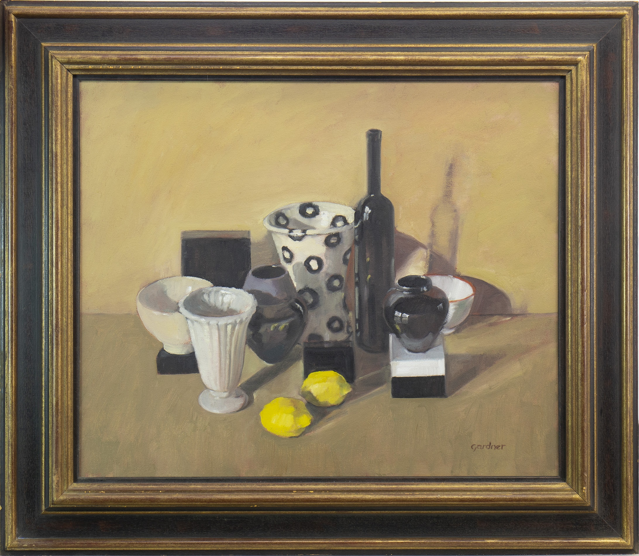 CLAUSTROPHOBIC STILL LIFE, AN OIL BY SANDIE GARDNER