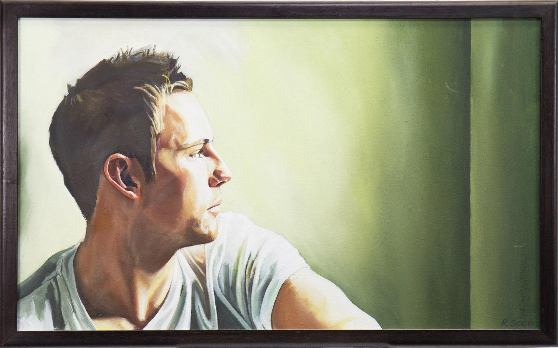 PORTRAIT OF TOM KOWALSKI, AN OIL BY RICKY SCOTT