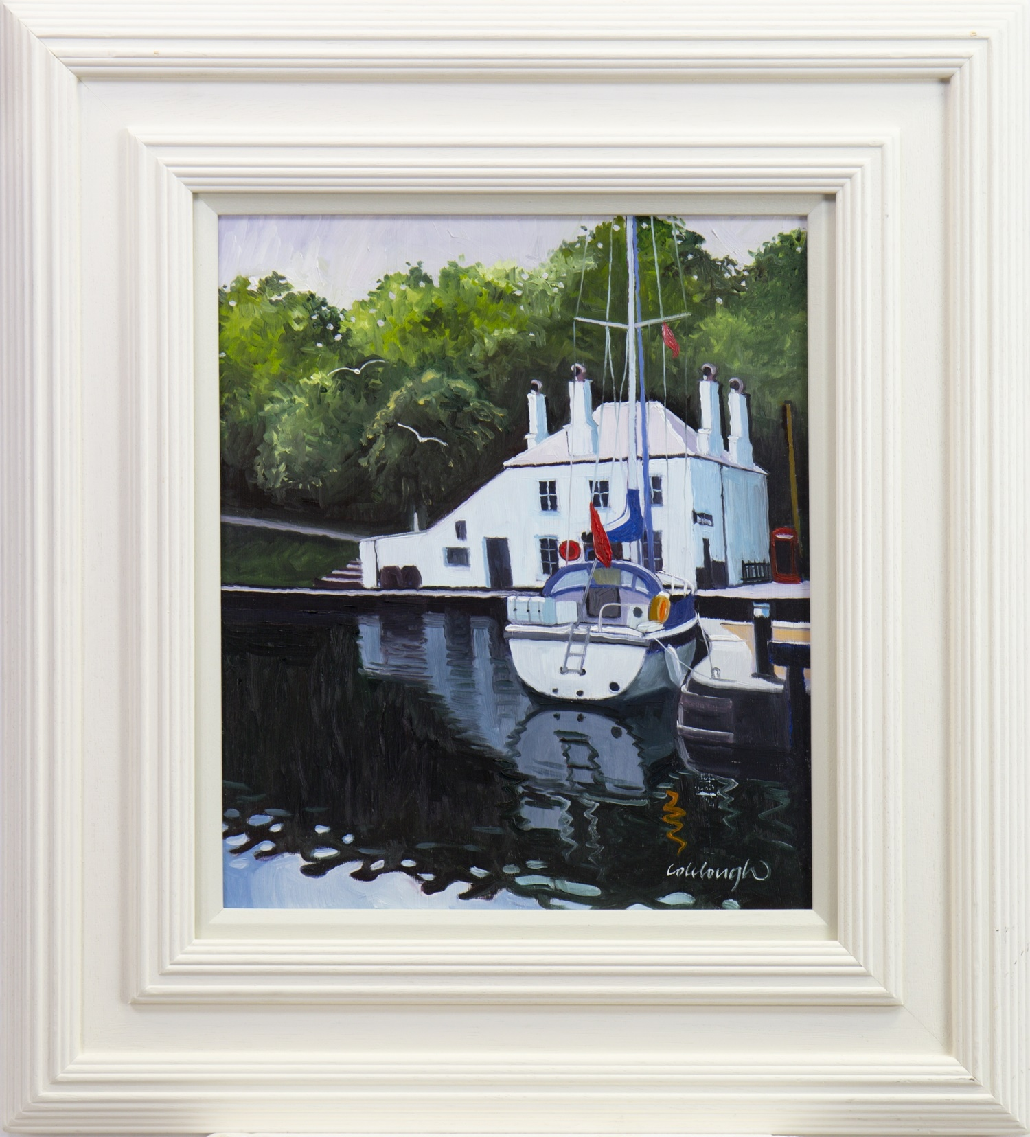CRINAN REFLECTIONS, AN OIL BY FRANK COLCLOUGH
