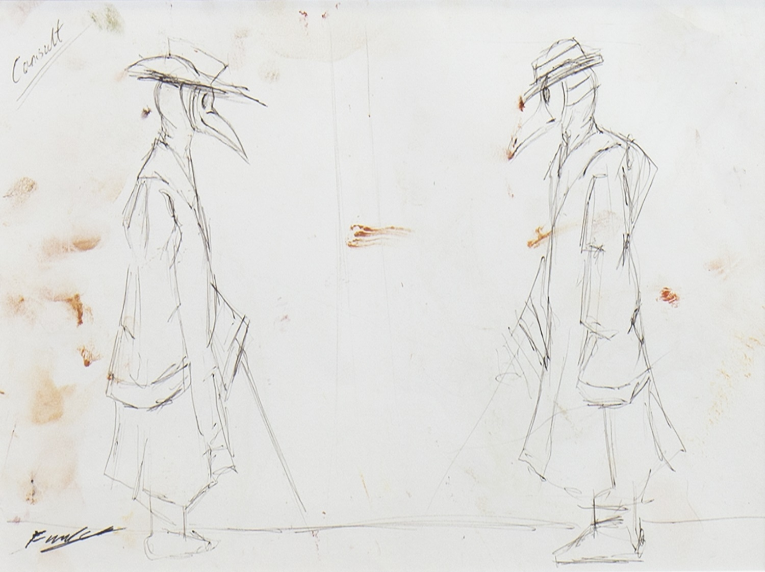 THE CONSULTATION, A PENCIL SKETCH BY FRANK TO - Image 2 of 2