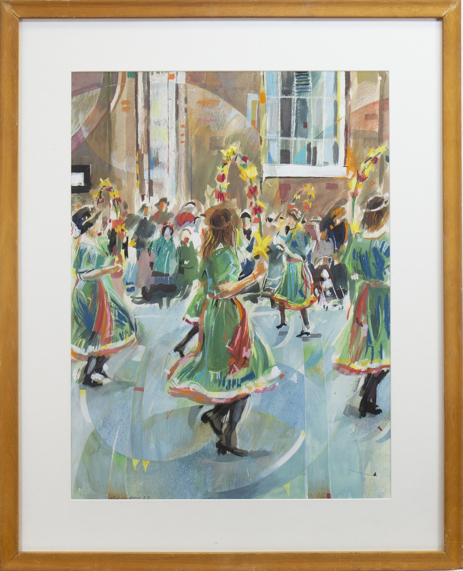 STREET DANCERS, A MIXED MEDIA BY NICK ANDREWS