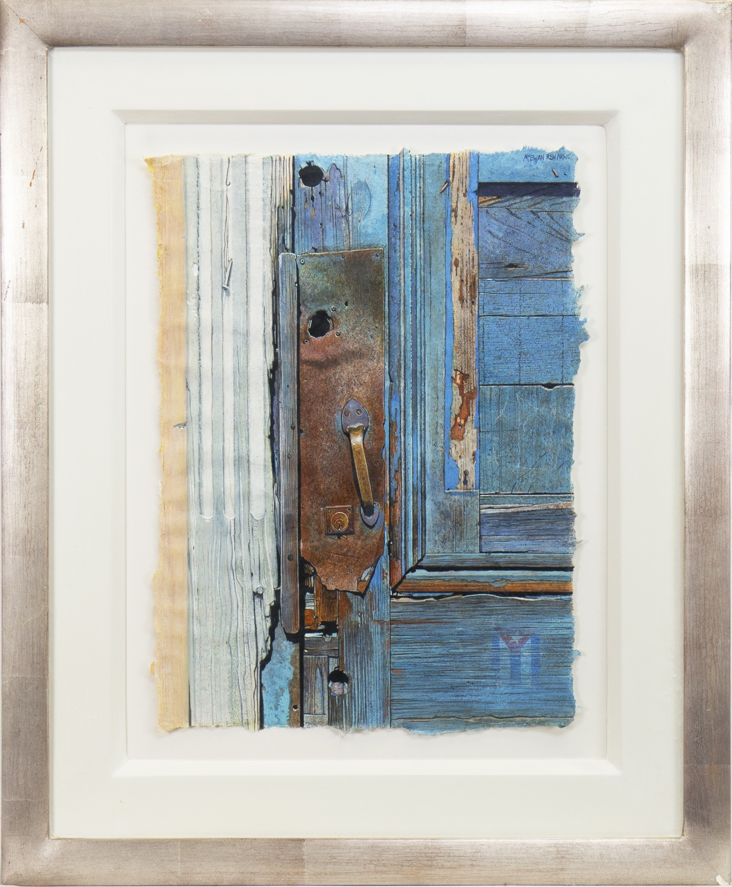 IN WITH THE WOODWORK, A WATERCOLOUR BY ANGUS MCEWAN