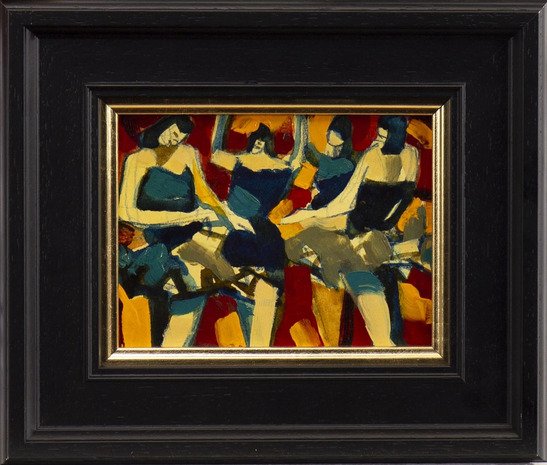 GOLDEN DANCERS, A MIXED MEDIA BY JAMIE O'DEA
