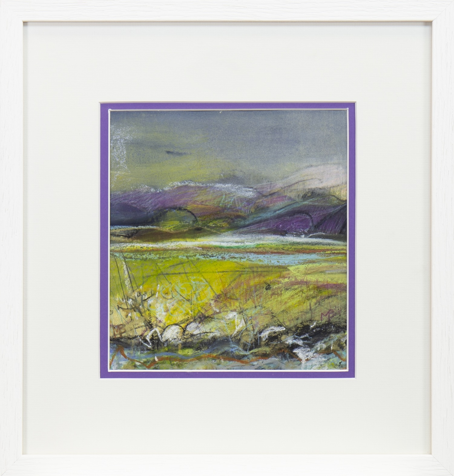 SUNLIT FIELDS, A MIXED MEDIA BY MAY BYRNE