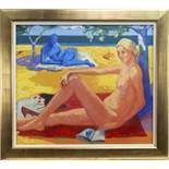 TWO LOVERS, AN OIL BY GORDON BROWN