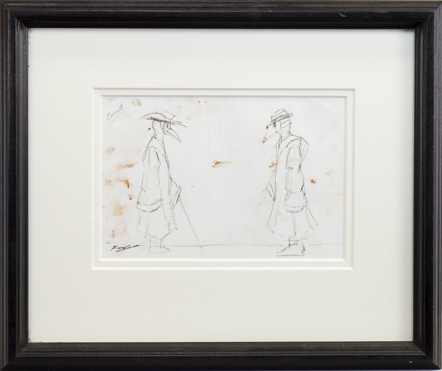 THE CONSULTATION, A PENCIL SKETCH BY FRANK TO