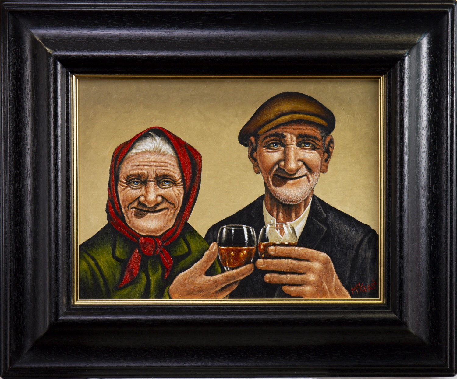 BEHIND EVERY GREAT MAN, AN OIL BY GRAHAM MCKEAN