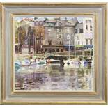 HONFLEUR, FRANCE, AN OIL BY PETER GRAHAM