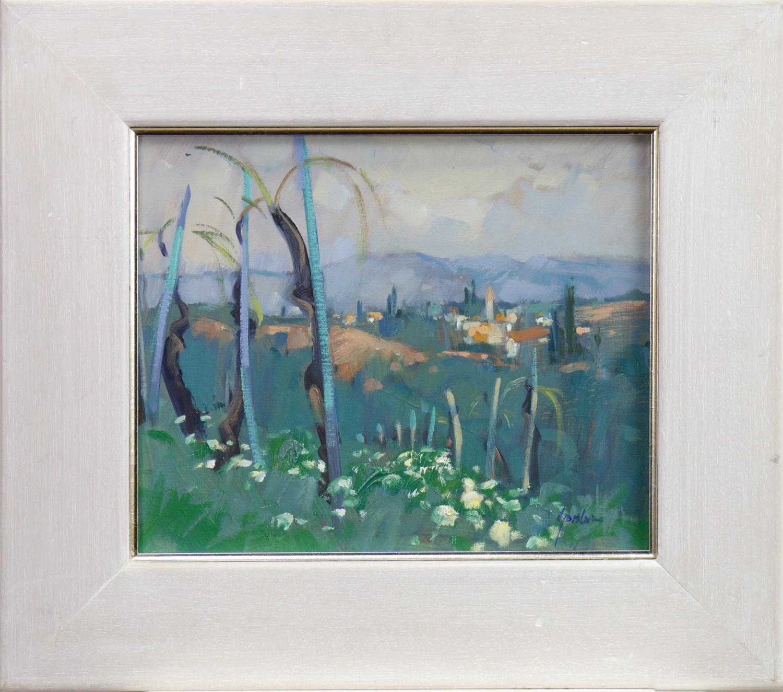 LANDSCAPE, AN OIL BY ANNE GORDON