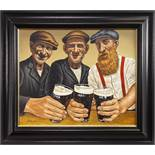 THE BOYS ARE BACK IN TOWN, AN OIL BY GRAHAM MCKEAN