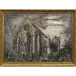 DORCHESTER ABBEY, AN OFFSET LITHOGRAPH BY JOHN PIPER