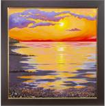BRIGHT SUNSET, AN OIL BY SANDRA FRANCIS