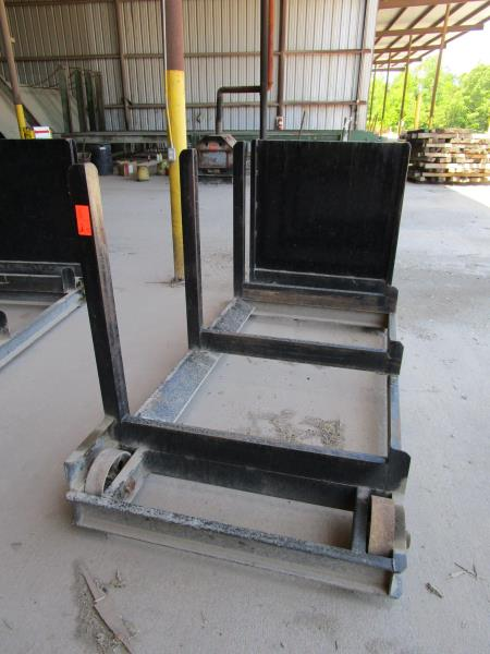 Steel lumber cart with left hand arm