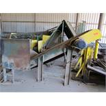 Cleted Incline conveyor for stick accumulation and collection frame (4'x8')
