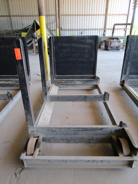 Lot 34 - Steel lumber cart with left hand arm