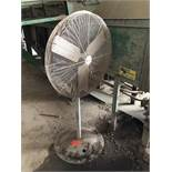 Pedestal floor fan