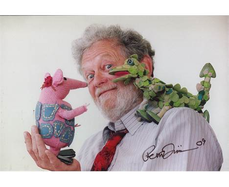 Peter Firmin 8x12 Photo Signed By Noggin The Nog, Ivor The Engine And Bagpuss Creator And Artist, The Late Peter Firmin. Good