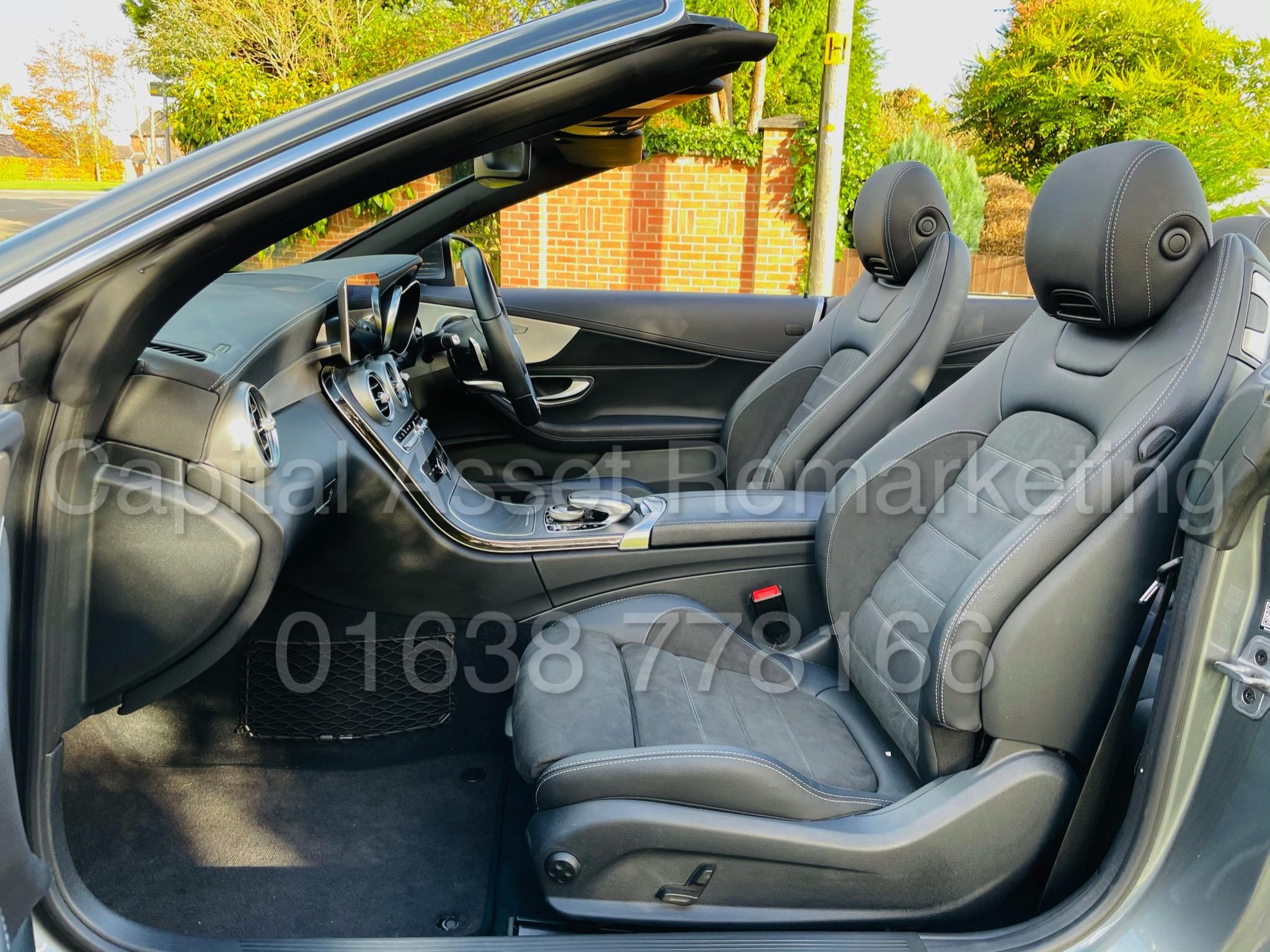 (On Sale) MERCEDES-BENZ C220D *AMG LINE -CABRIOLET* (2019) '9G AUTO - LEATHER - SAT NAV' *HUGE SPEC* - Image 22 of 43