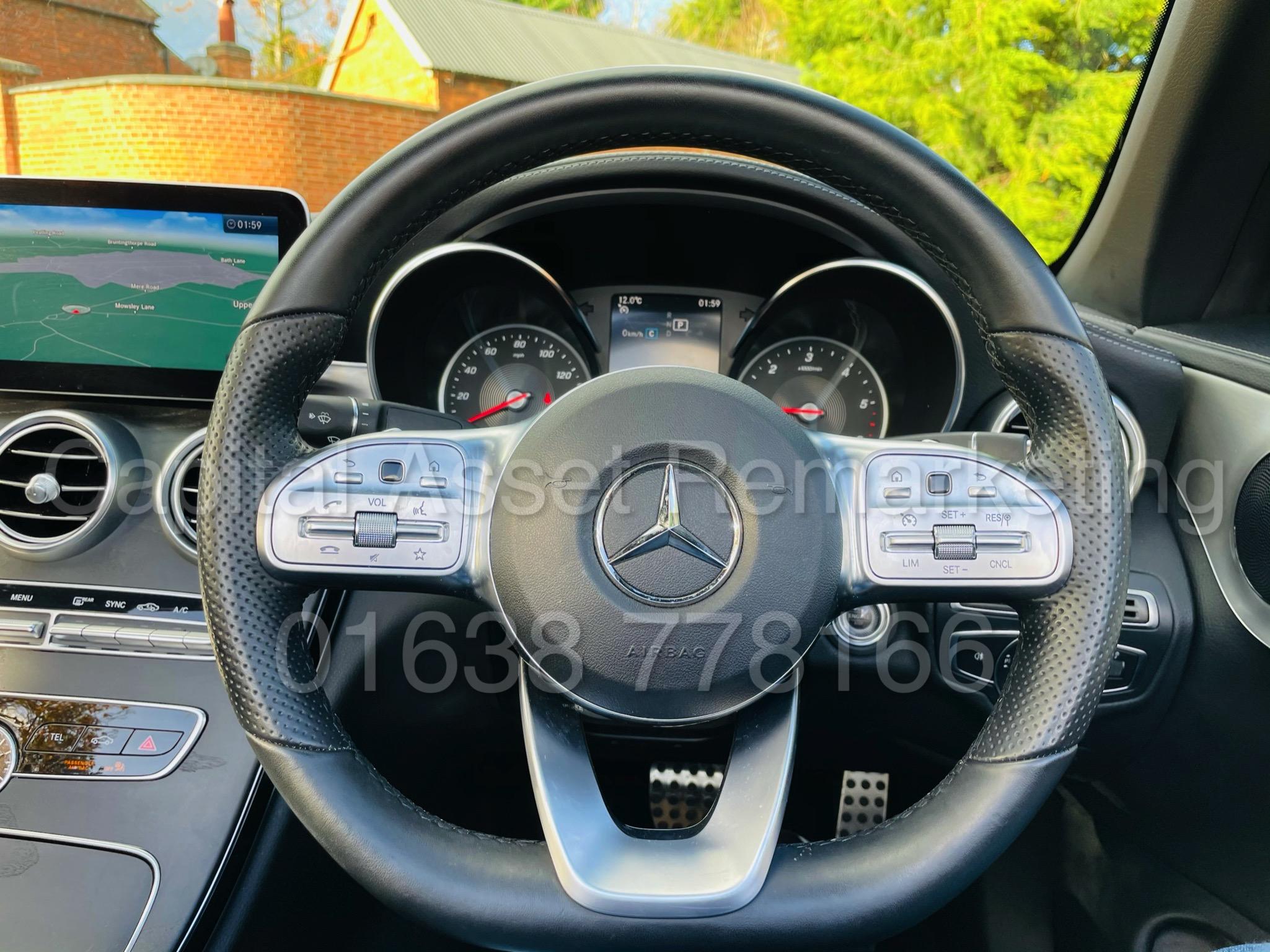 (On Sale) MERCEDES-BENZ C220D *AMG LINE -CABRIOLET* (2019) '9G AUTO - LEATHER - SAT NAV' *HUGE SPEC* - Image 42 of 43