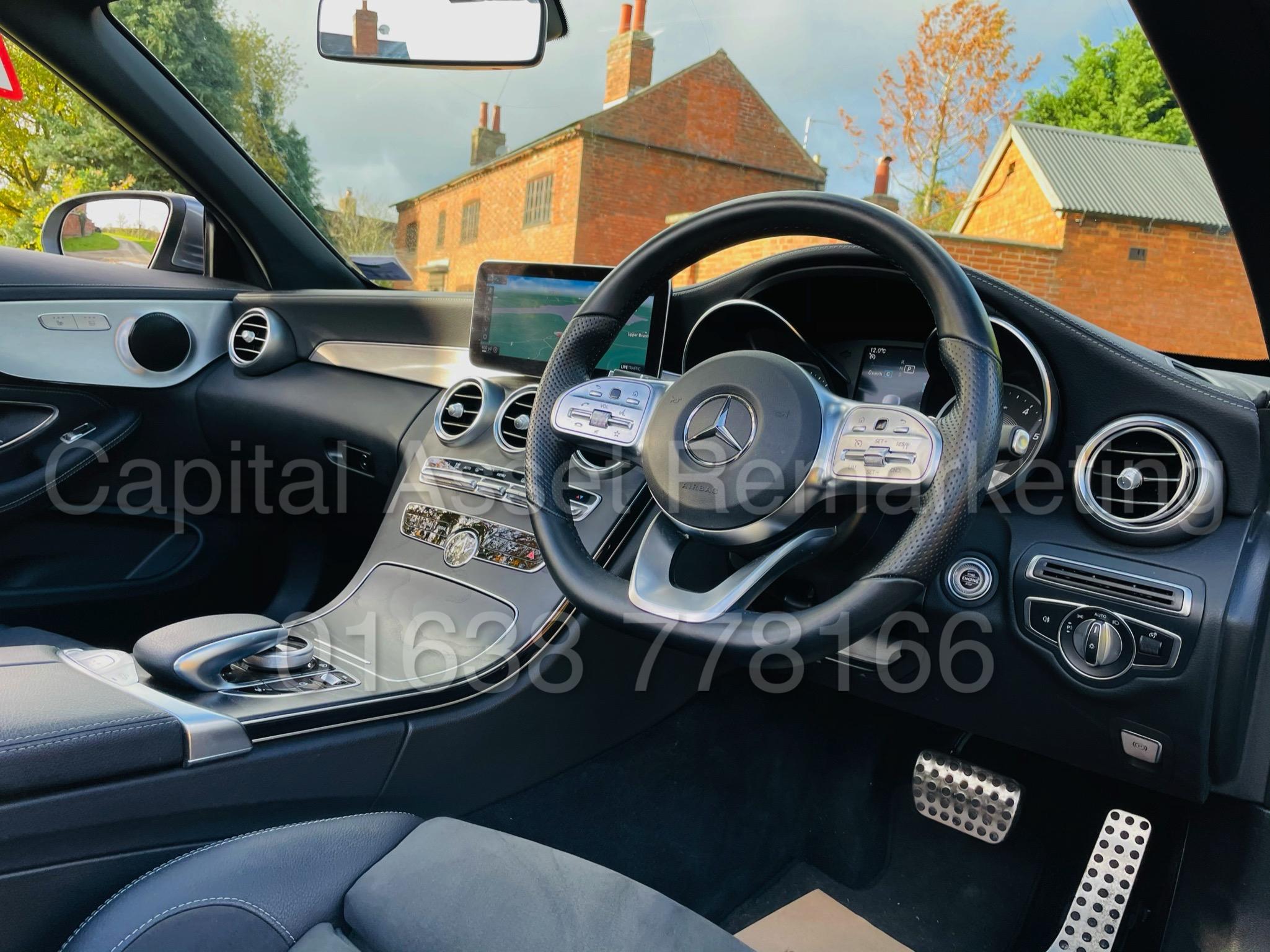 (On Sale) MERCEDES-BENZ C220D *AMG LINE -CABRIOLET* (2019) '9G AUTO - LEATHER - SAT NAV' *HUGE SPEC* - Image 32 of 43