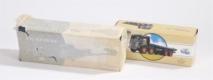 Lot 51 - Corgi Classics 97956 Foden flatbed Pickfords, Corgi CC10202 ERF low loader Pickfords, both boxed
