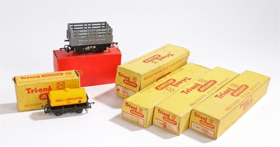 Lot 35 - Triang, to include 0-6-0 Class 3F Tank Locomotive, Shell rolling stock, three coaches and a Hornby