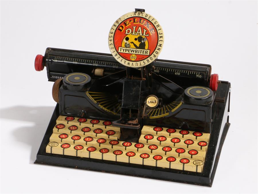 Lot 8 - MAR de-luxe dial toy typewriter, made in U.S.A, 28cm wide