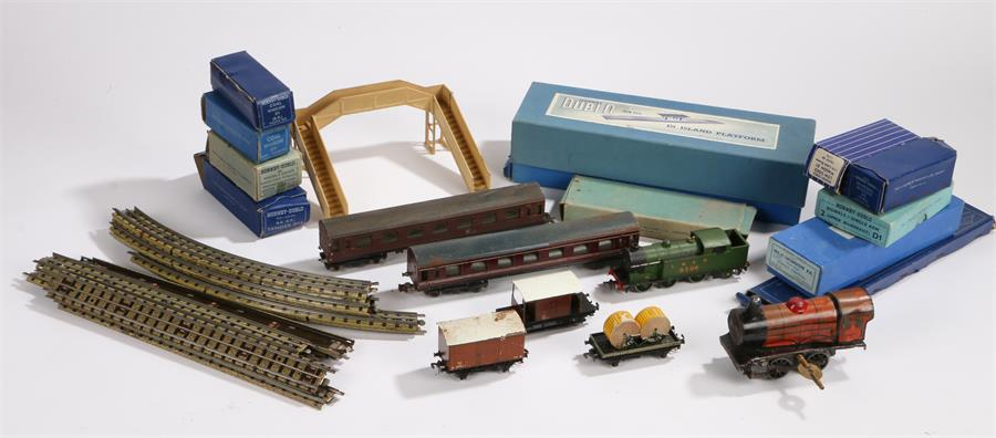Lot 36 - Hornby and other model railway, mixed gauges, to include Hornby LNER 9596 engine, Hornby Dublo D1