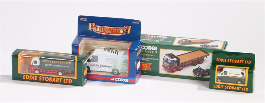 Lot 52 - Corgi Classics 31701 Eddie Stobart Foden 8 wheel rigid truck mini van, Corgi Eddie Stobart Ltd