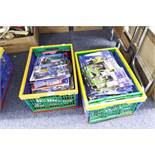 TWO BOXES OF FOOTBALL LEAGUE PROGRAMMES, VARIOUS FROM THE LATE 90's TO INCLUDE; CARDIFF CITY,