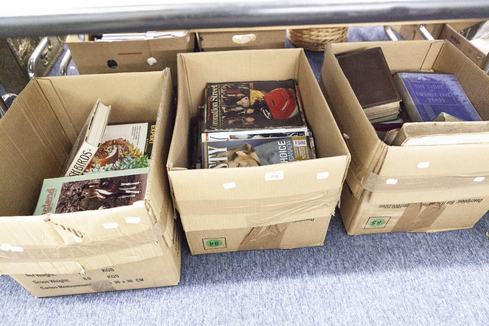 Lot 272 - SUNDRY BOOKS, GARDENING AND LOCAL HISTORY ETC... (3 BOXES)