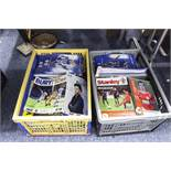 TWO BOXES OF FOOTBALL LEAGUE PROGRAMMES TO INCLUDE; WATFORD, WIGAN, BLACKBURN, BLACKPOOL,