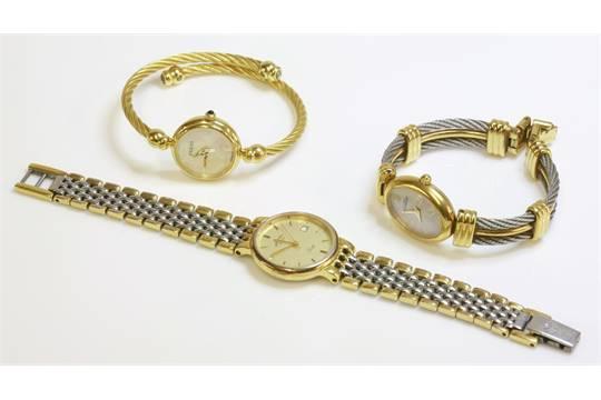 4f08cca74d0 A ladies bi-colour Michel Herbelin quartz bracelet watch