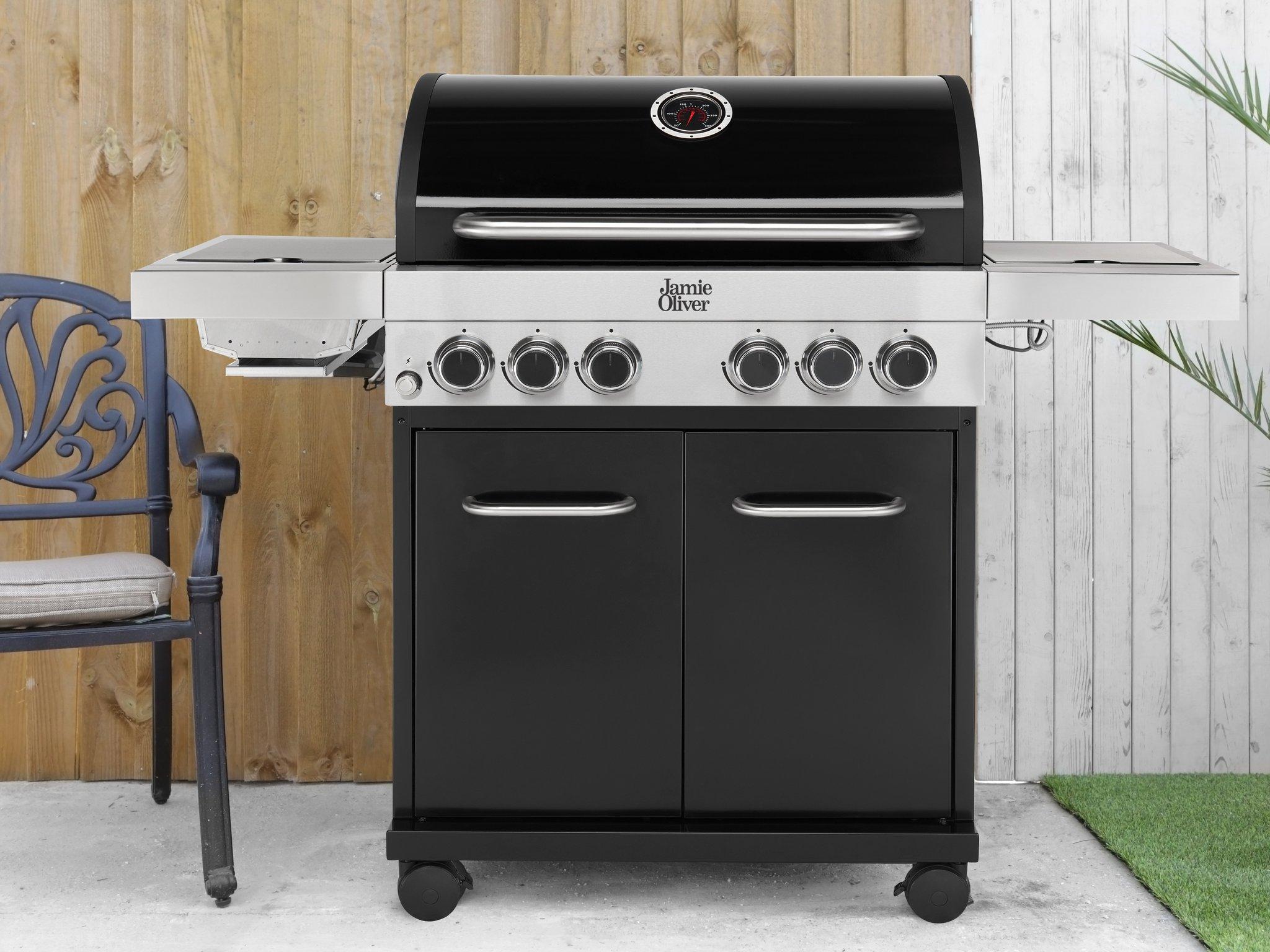 + VAT Brand New Jamie Oliver Classic 4SI BBQ - 4 Gas Burners Plus Side Grill & Side Burner