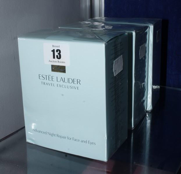Lot 13 - Three boxed as new Estee Lauder Travel Exclusive Advanced Night Repair for face and eyes (