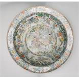 An impressive large 18th / 19th century Chinese / Cantonese famille rose centrepiece bowl. The