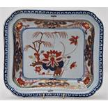 An 18th Century Turner's Patent pre Masons ironstone dish of rectangular form decorated with
