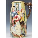 An early 20th century Burleigh Ware ( B & L Ltd ) tall embellished glazed jug entitled ' Sally in
