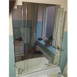Large Art Deco Bathroom Mirror No Reserve