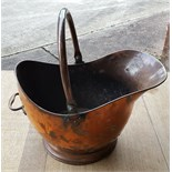Vintage Victorian or earlier Copper Coal Scuttle