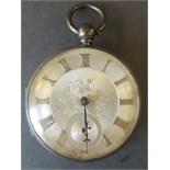 Antique Vintage Sterling Silver Pocket Watch c1859