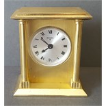 Vintage Retro Swiza 8 Brass Carriage Alarm Clock
