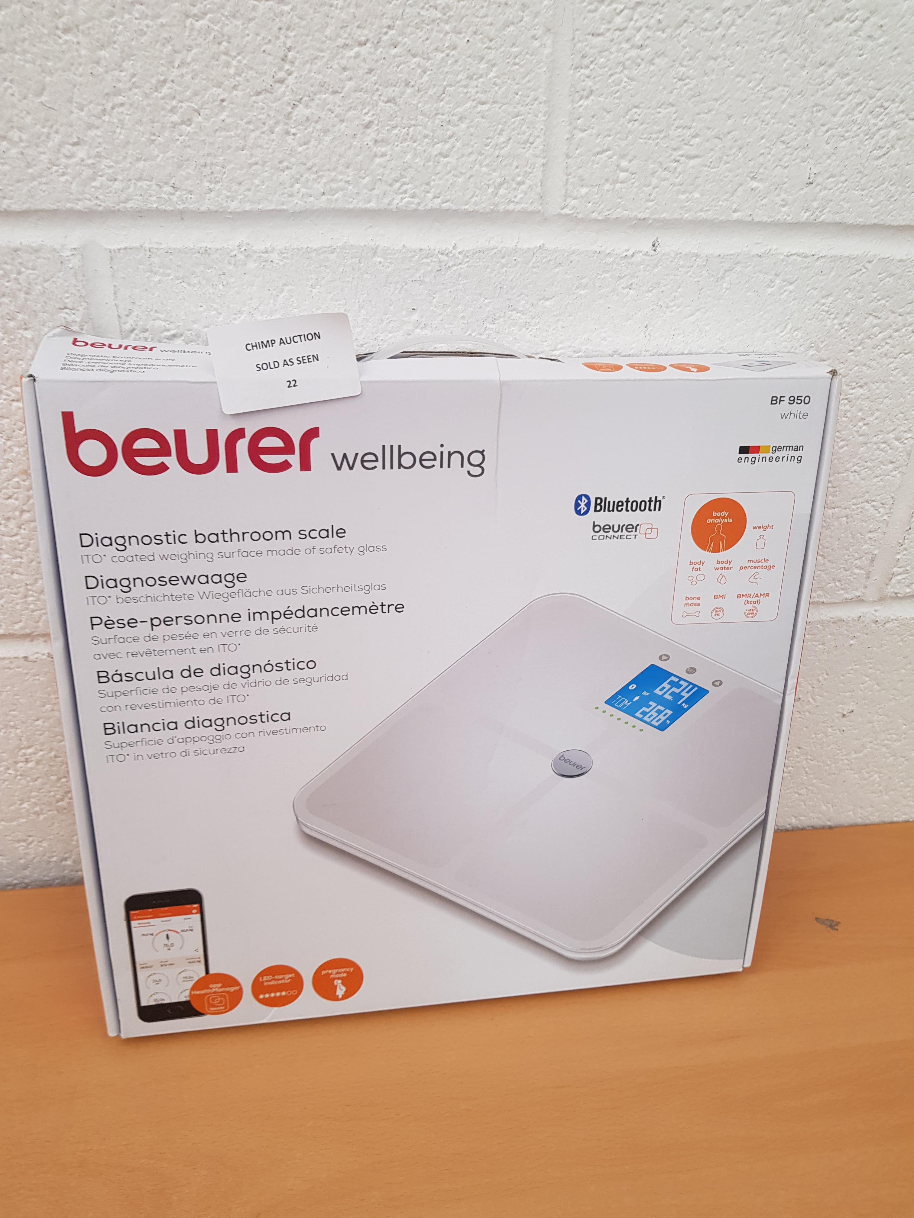 Lot 22 - Beurer BF950 Premium Diagnostic Bathroom Scale RRP £129.99