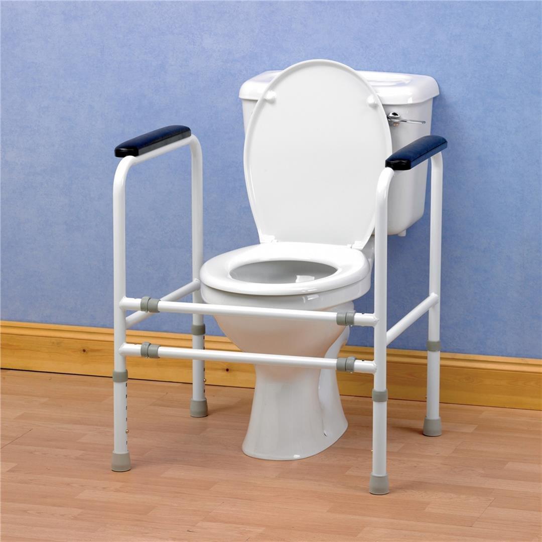 Lot 11 - Homecraft Adjustable Toilet Surround + Padded Handgrips RRP £129.99