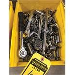 BIN OF ASSORTED SOCKETS AND RATCHETS